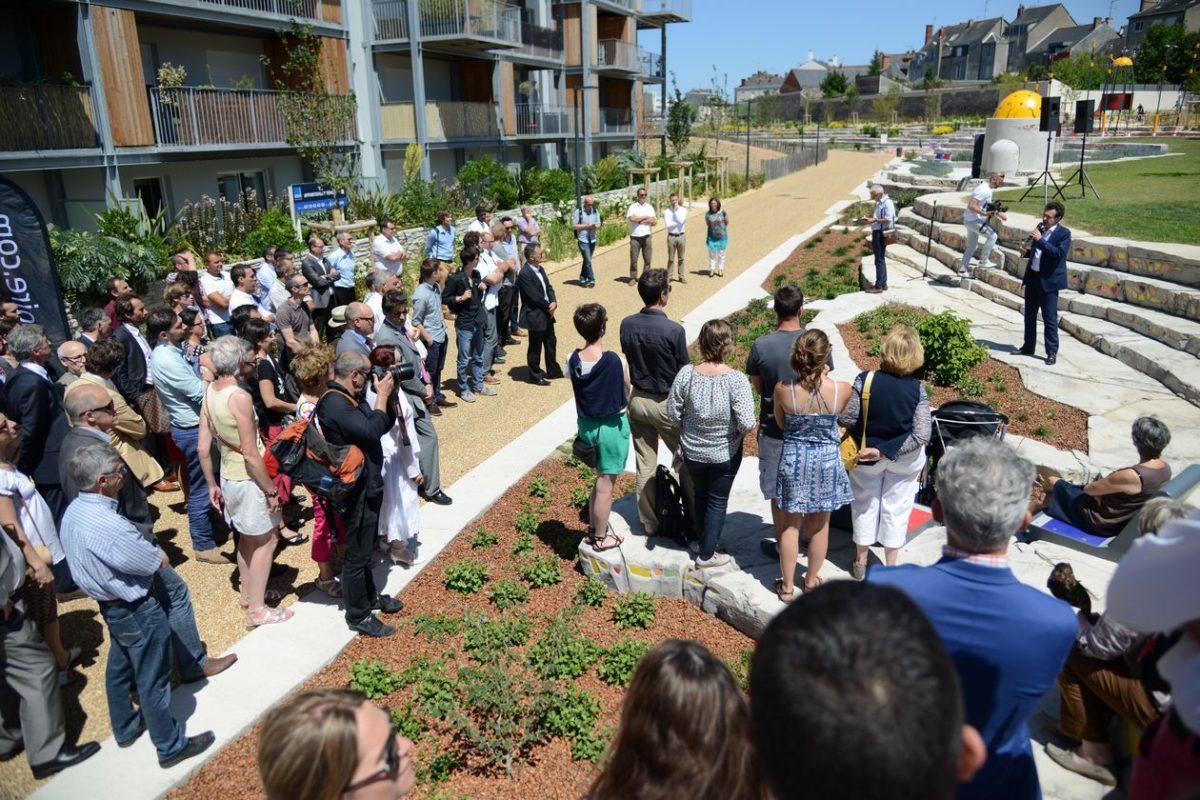 Inauguration du parc du quartier Pôle Gare