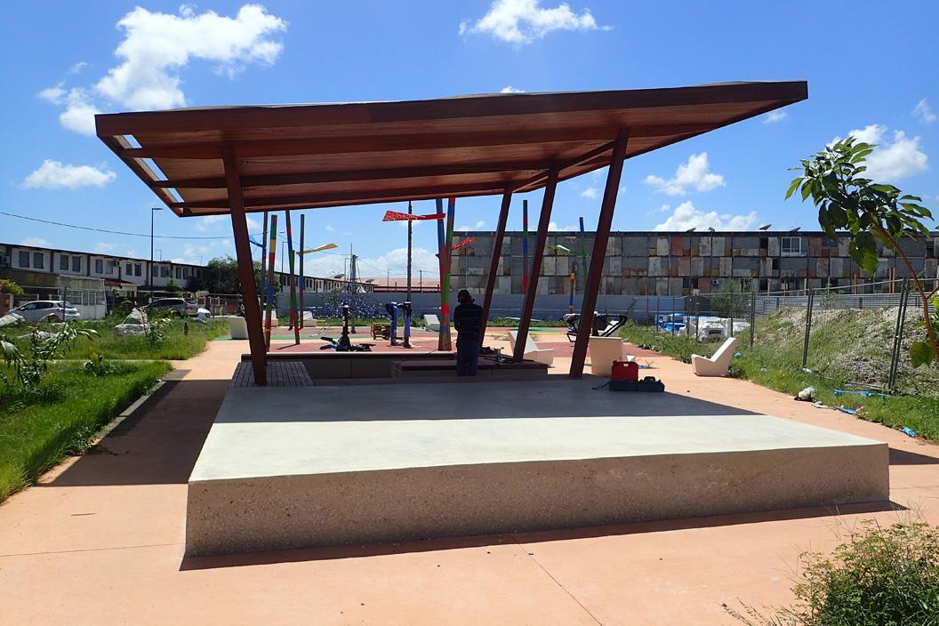 Les espaces publics du quartier de la Réno à Cayenne prennent forme !