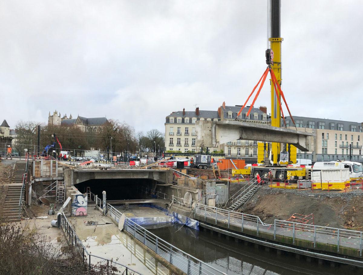 Opération d'envergure dans le centre de Nantes!