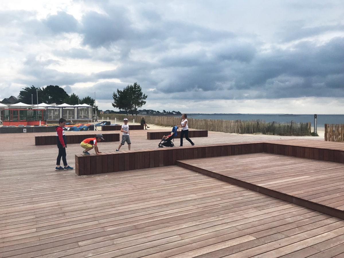 Carnac, la phase 1 du boulevard de la plage est terminée!