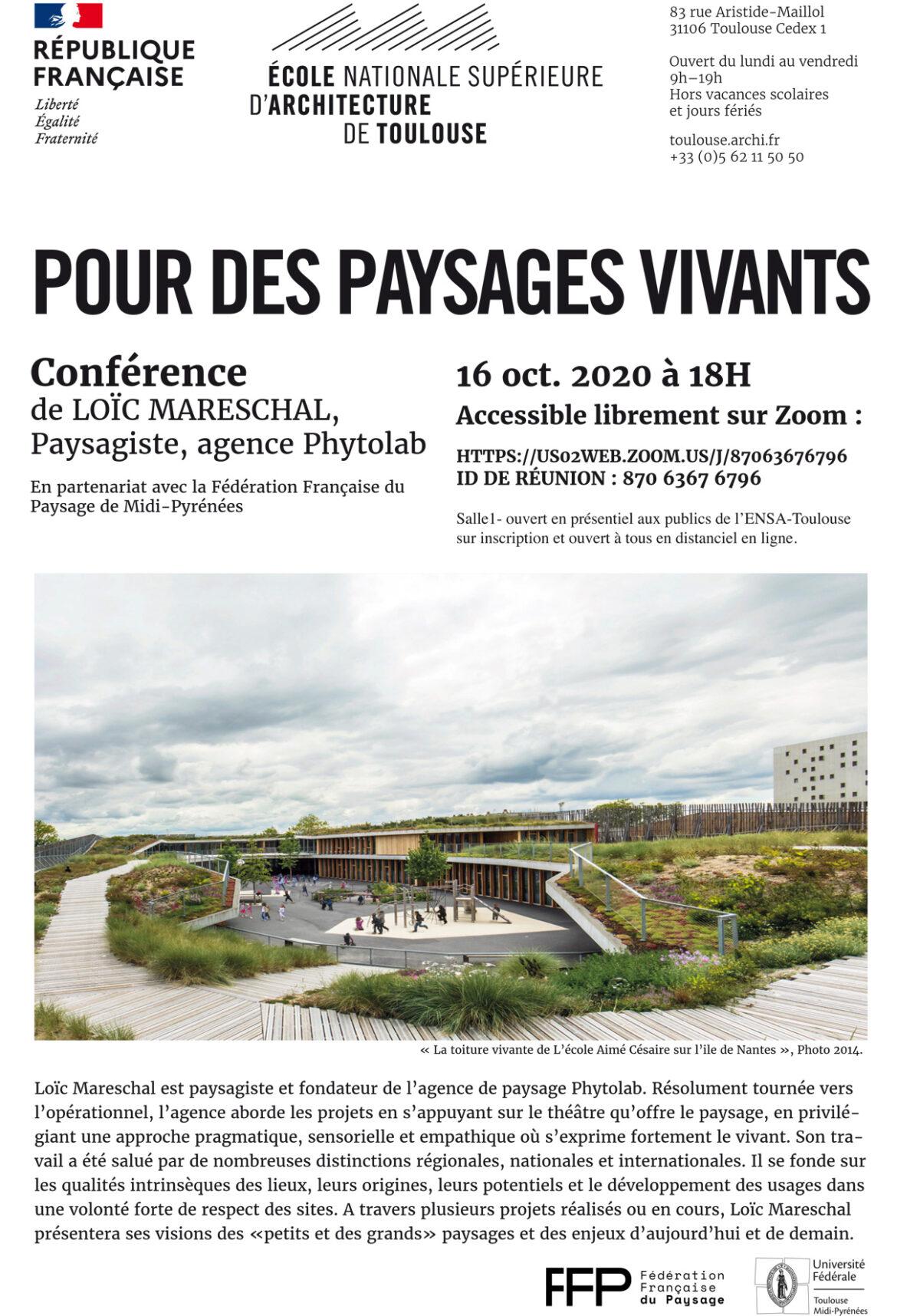 Conférence «Pour des paysages vivants»