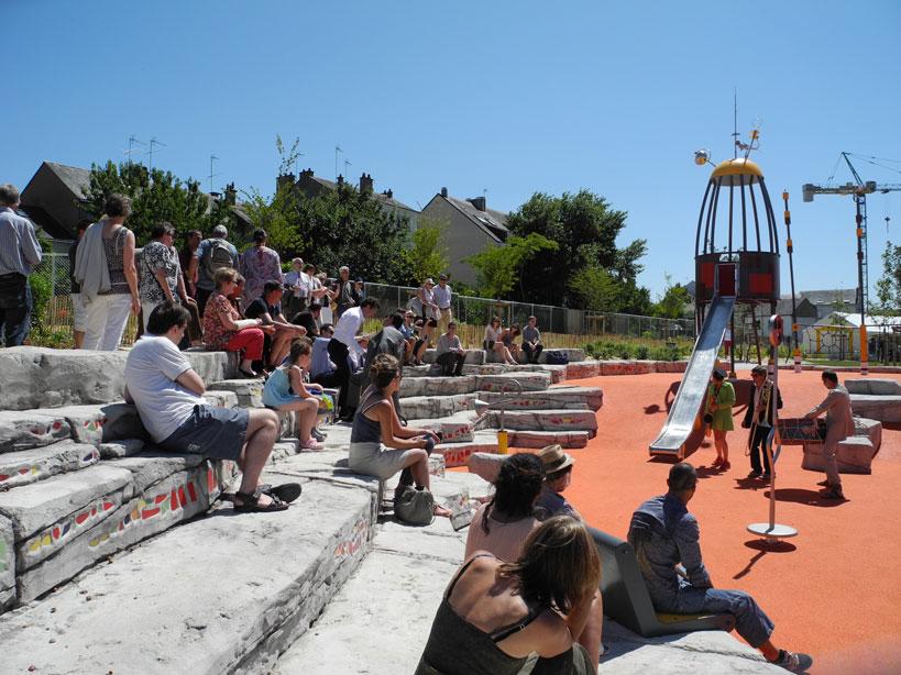 Inauguration du nouveau parc de la ZAC Gare+ à Angers