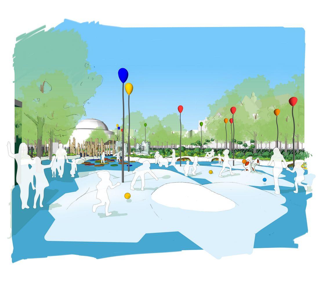 Lauréat du concours pour l'aire de jeux Nelson Mandela à Paris