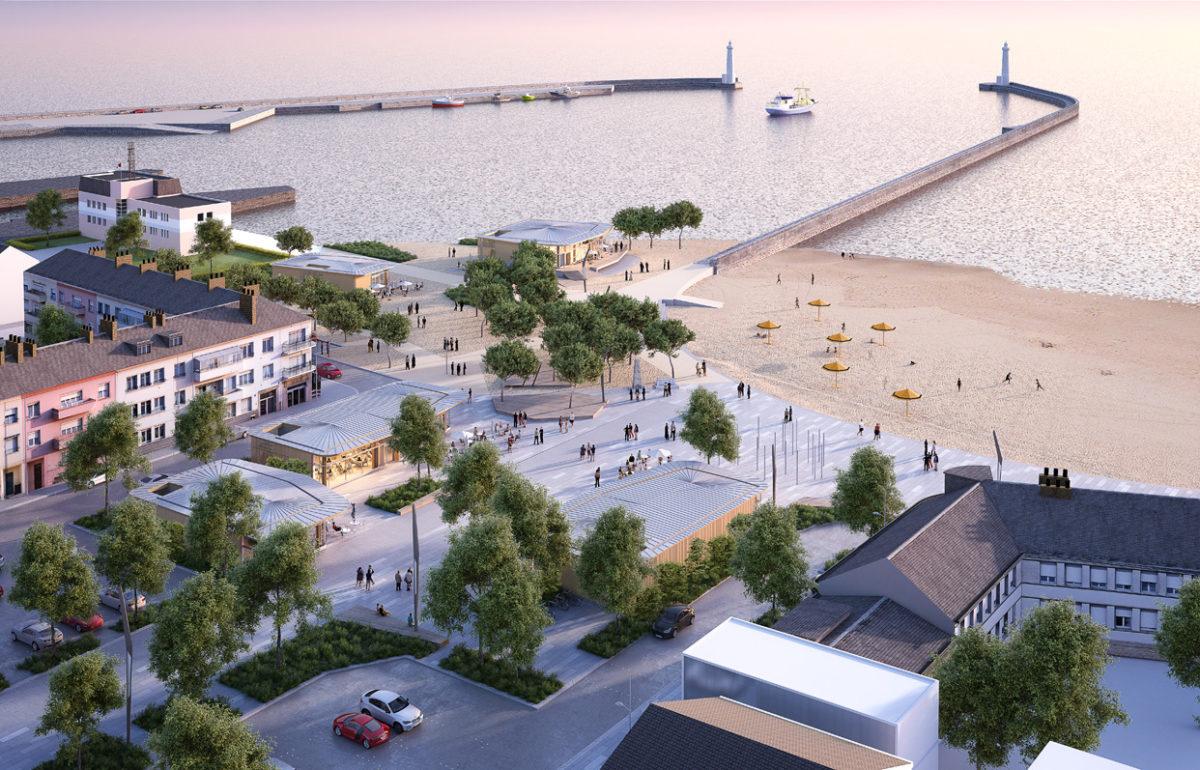 Les dernières images du projet de la tranche 3 du front de mer de Saint Nazaire rendues publiques