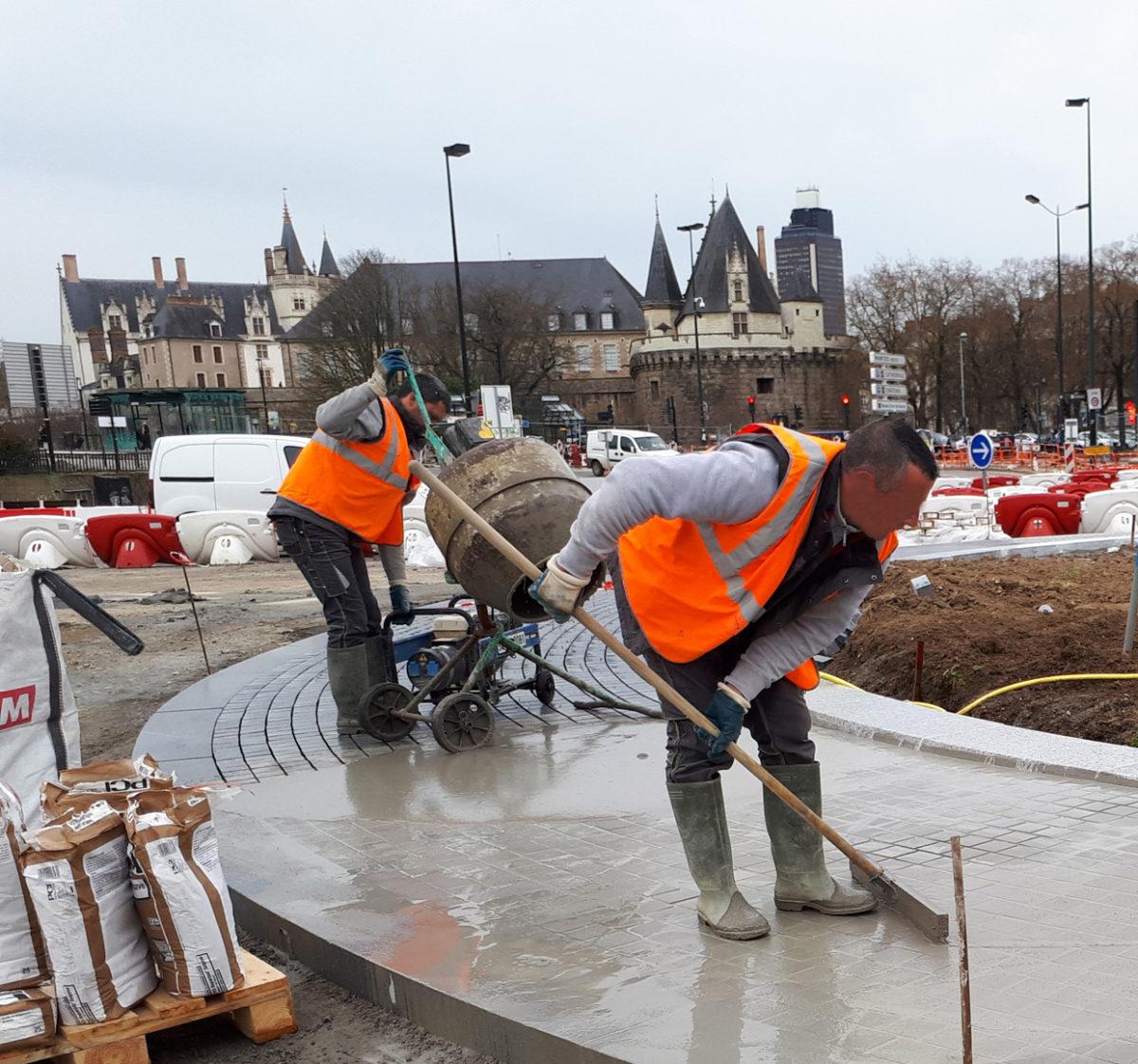 Les travaux des espaces publics autour de la gare de Nantes ont commencés!