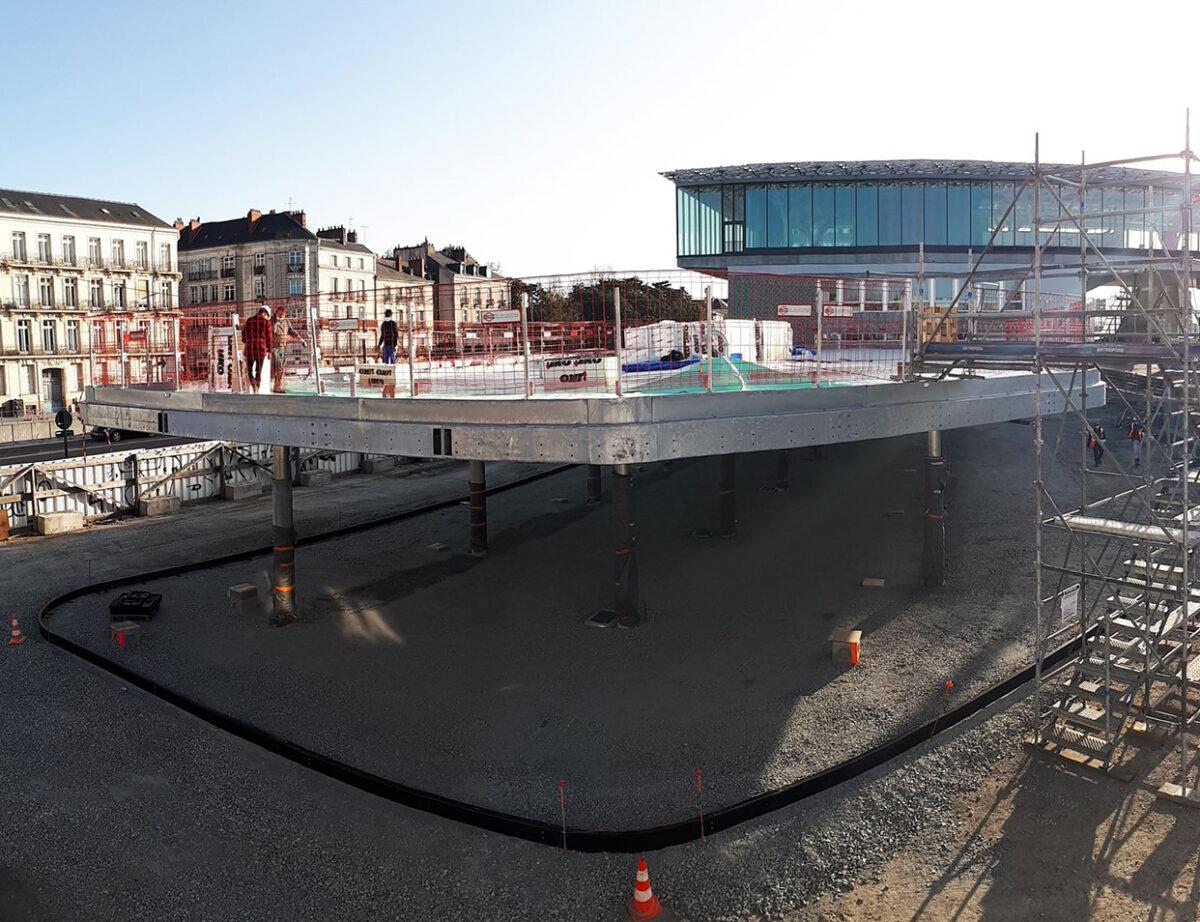 Place des mobilités, gare nord, Nantes